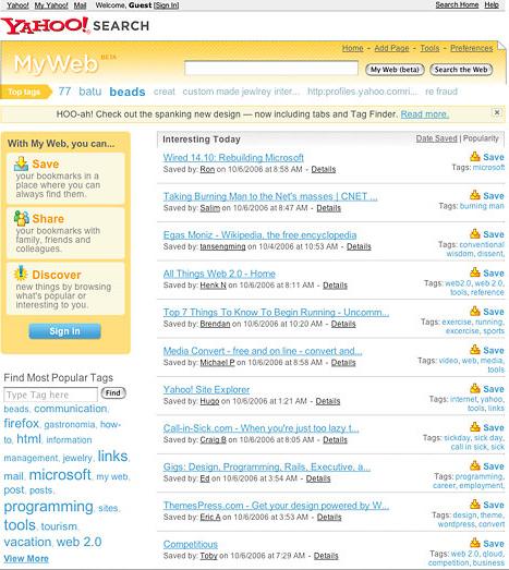 tính năng đánh dấu tìm kiếm del.icio.us của yahoo