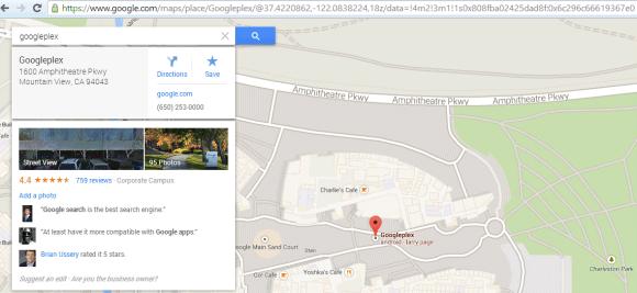 url của google map
