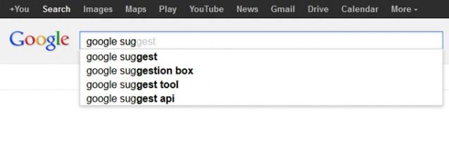Khám phá tính năng Google Suggest 2