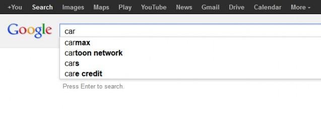 Gợi ý Google Suggest khi tìm kiếm từ khóa