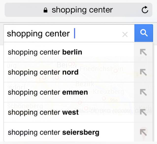 Gợi ý Google Suggest trên thiết bị di động