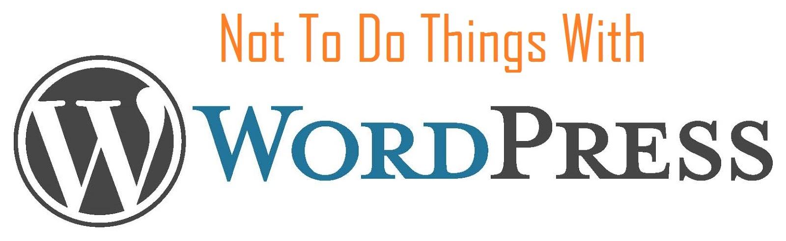 Chú ý khi xây dựng blog wordpress