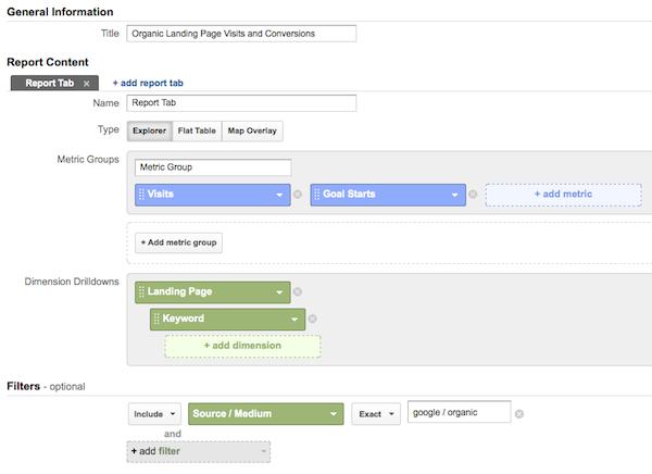 tạo báo cáo tùy chỉnh lưu lượng truy cập trên GA