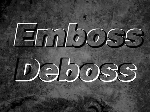 Hướng dẫn tạo ra hiệu ứng Emboss/Deboss trong Photoshop 1
