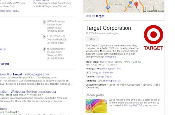 sử dụng Google+ và knowledge Graph