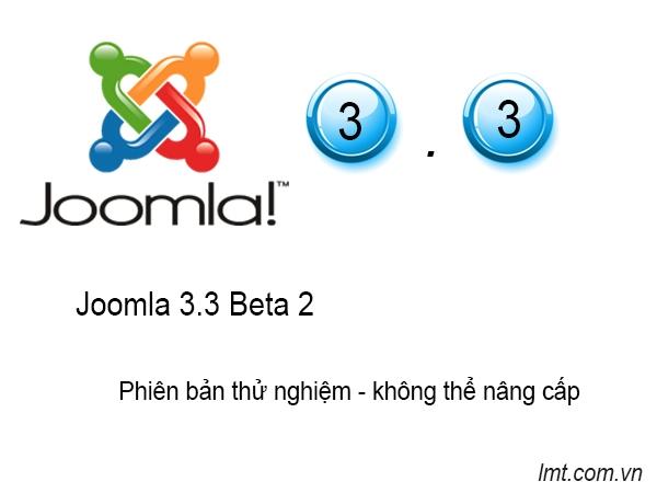 Phát hành phiên bản Joomla! 3.3 Beta 2 2