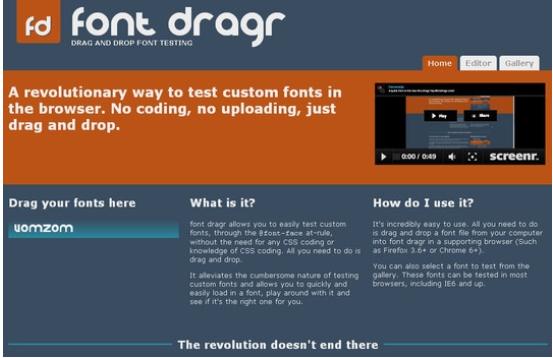 công cụ Font Dragr