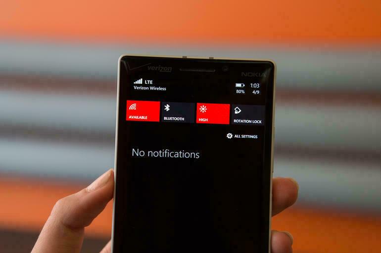 xem thông báo trên windows phone 8.1