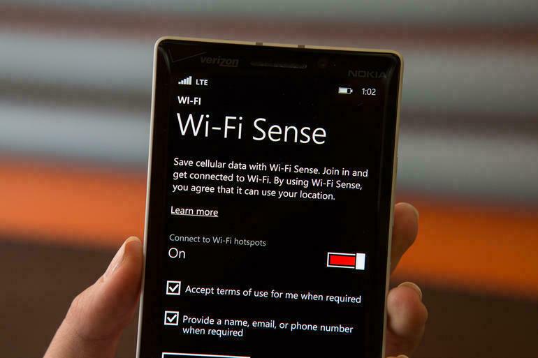 chia sẻ mạng wi-fi trên windows phone 8.1