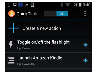 Cài đặt ứng dụng QuickClick