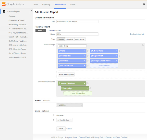 Chỉnh sửa hiển thị trong của Solutions Gallery  trong google analytic
