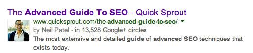 google authorship hiển thị ngoài trang kết quả tìm kiếm