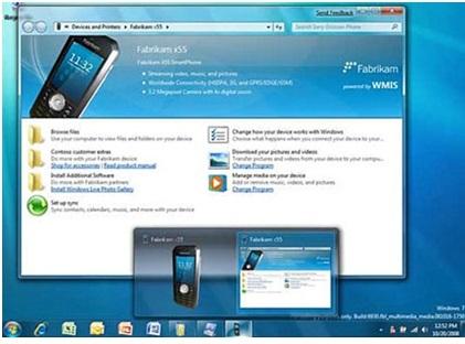 kết nối Device stage trên windows 7