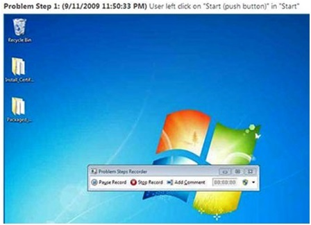 Tính năng problem steps recorder trong windows 7