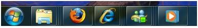 ứng dụng superbar của windows 7