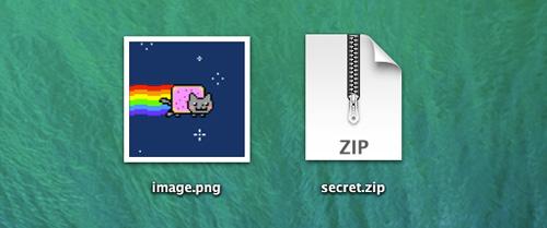 Thủ thuật ẩn giấu file ZIP trong file hình ảnh trên Mac