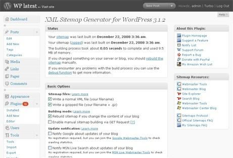 sử dụng google xml sitemaps trong wordpress