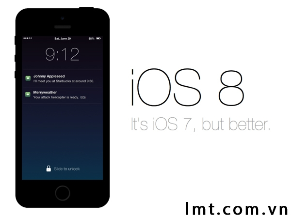 So sánh tính năng giữa iOS 8 và iOS7 1