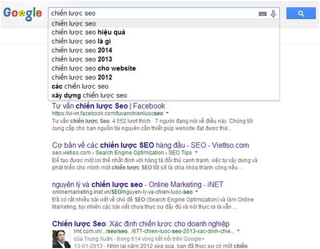 sử dụng google suggest cho từ khóa