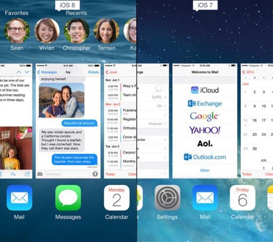 So sánh tính năng giữa iOS 8 và iOS7 7