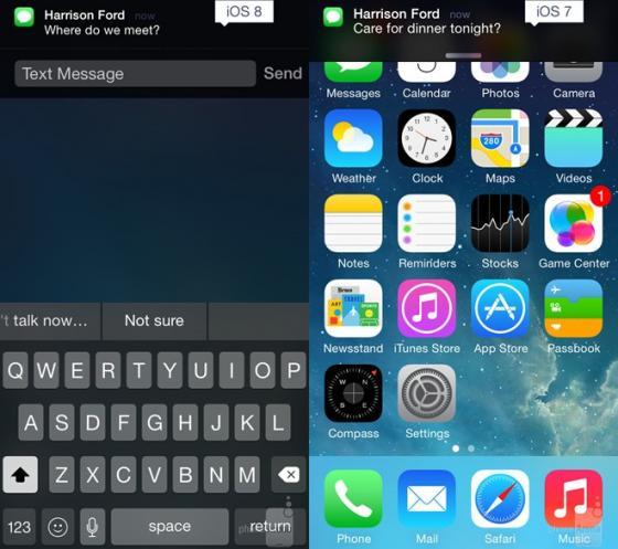 Thông báo tin nhắn trên iOS 8