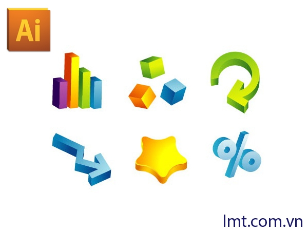 Hướng dẫn vẽ logo 3D trong illustrator CS6 5