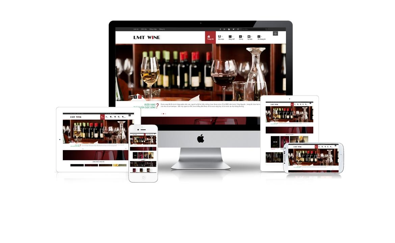 LMT Wine - Mẫu website kinh doanh rượu 2