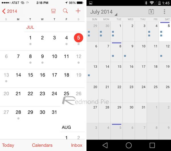 So sánh iOS 8 và Android L