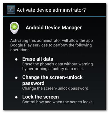 Tính năng bảo mật dữ liệu khi làm mất điện thoại Android 2