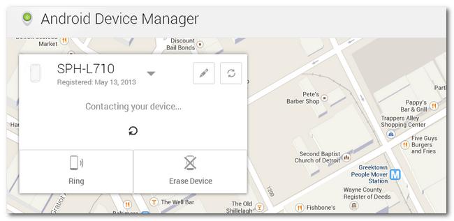 Tính năng bảo mật dữ liệu khi làm mất điện thoại Android 3