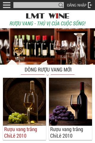 Lmt Wine phiên bản mobile