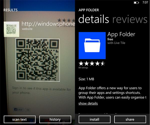 ứng dụng OEM đã cho phép cài đặt với nút Install bên dưới