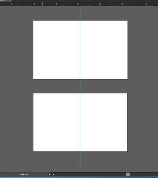 Tạo ra hai artboards (vùng được in)