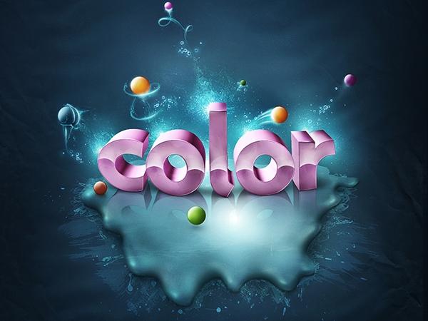 Thêm màu sắc sống động cho text 3D (phần 1) 1