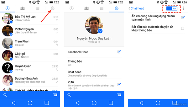Tắt Chat Heads (Android)