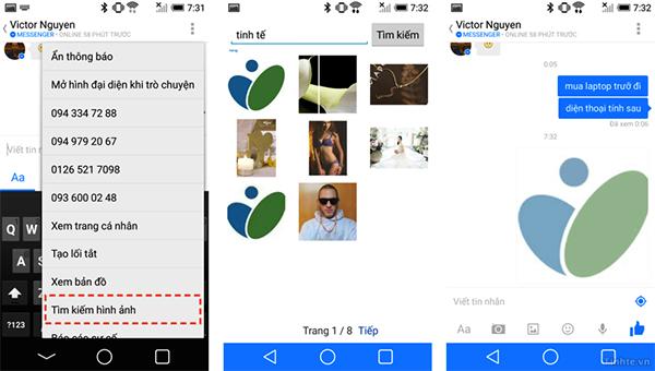 Tìm kiếm hình ảnh và đính kèm vào cuộc hội thoại (Android)