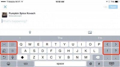 Xoay ngang màn hình để bàn phím có nhiều chức năng hơn
