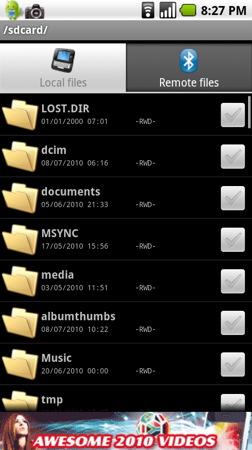 Không thể gửi và nhận file một số loại tập tin bằng bluetooth