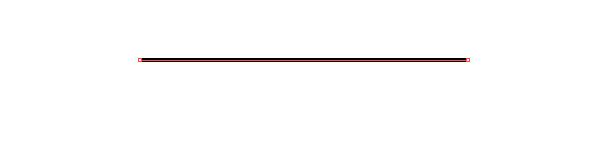 Sử dụng Pen Tool (P) hoặc Line Tool (/) tạo ra một phân khúc ngang