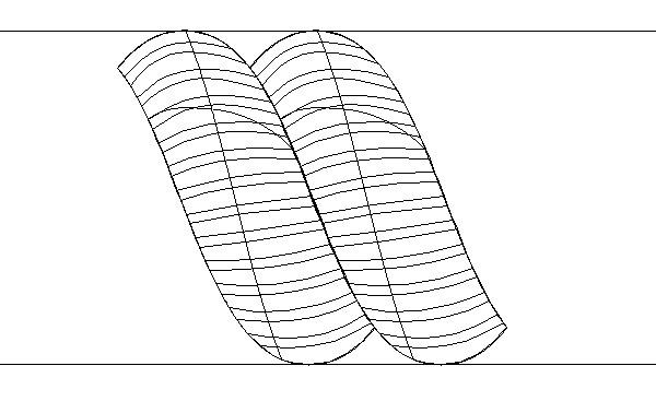 Tạo ra hai đường ngang chạm vào phía trên và phía dưới của hình
