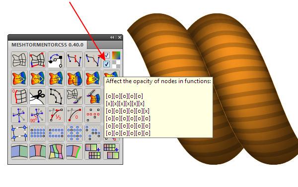 Đánh dấu vào tùy chọn Opacity trong bảng điều khiển