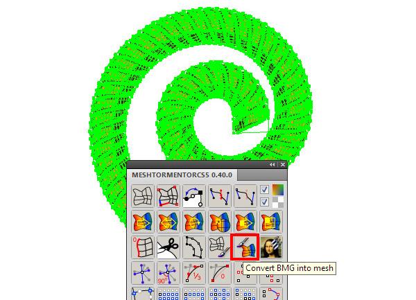 Click vào nút Convert BMG vào Mesh trong bảng điều khiển Mesh Tormentor
