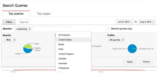 Thêm các bộ lọc để giới hạn kết quả chỉ trong tìm kiếm Web