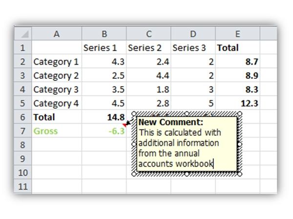 Hướng dẫn cách thêm chú thích vào bảng tính Excel 2013 9