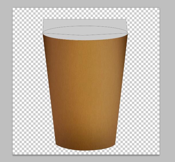vẽ một layer hình elip trực tiếp trên cốc của bạn
