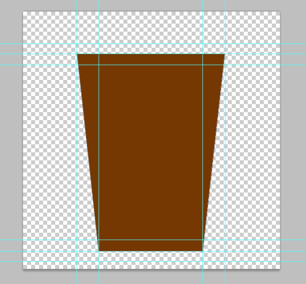 chọn lấy các góc dưới cùng của layer hình chữ nhật