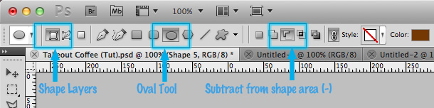 sử dụng boolean tools của Photoshop