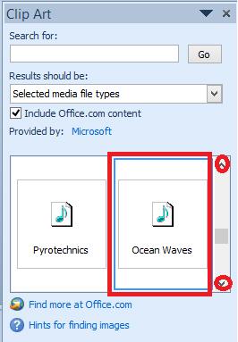 Clip Art Audio: Chèn âm thanh có sẵn trong Powerpoint