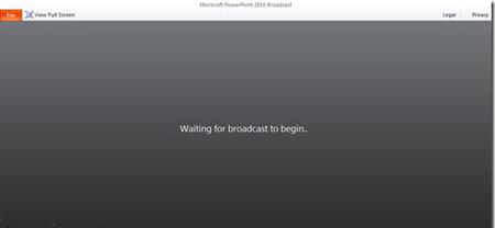 màn hình đen yêu cầu Waiting for broadcast to begin