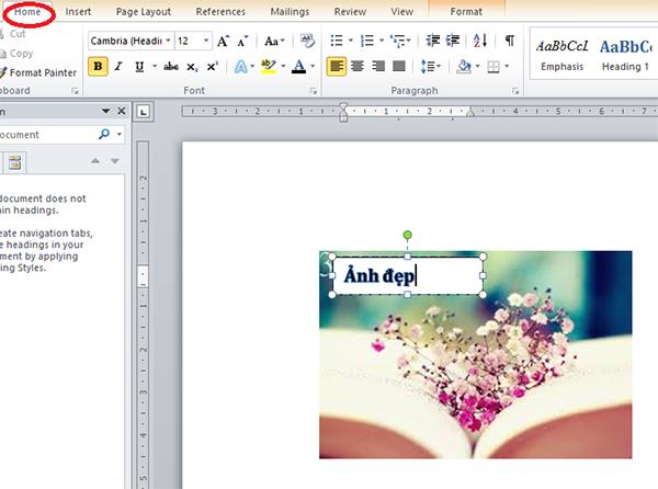 chọn Font chữ, màu chữ, định dạng khác theo ý của mình
